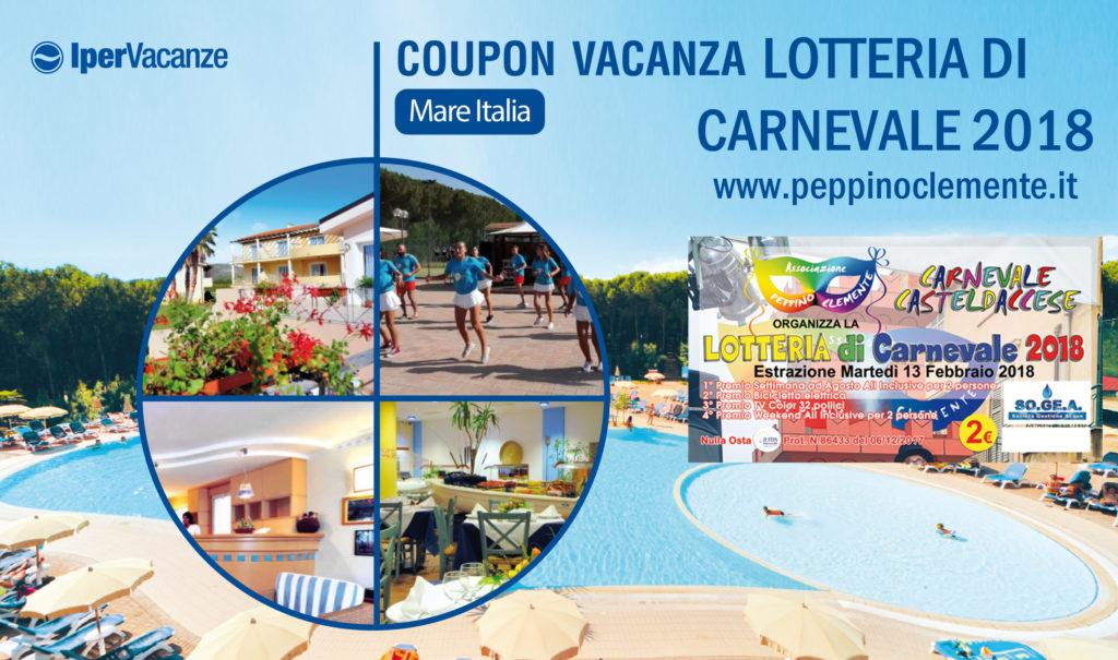 Lotteria di Carnevale 2018 - Primo Premio IperVacanze