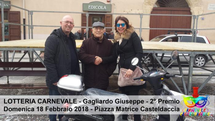 Lotteria di Carnevale - 2° Premio Gagliardo Giuseppe
