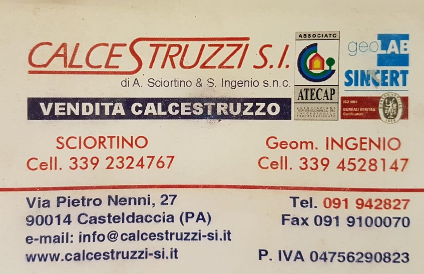 Calcestruzzi Sciortino e Ingenio a Casteldaccia (PA)